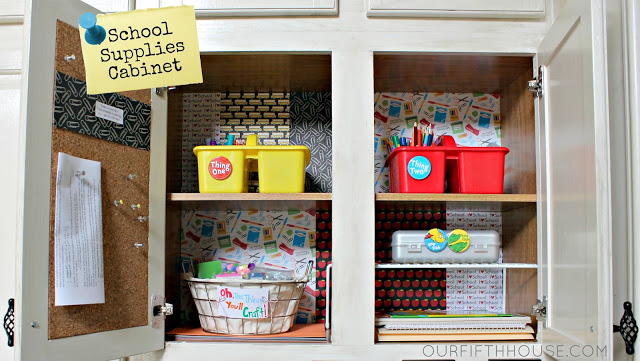 Organizing Homework Supplies Back To School Preparation