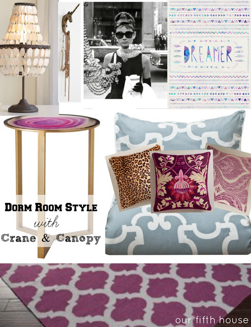 Styling A Dorm Room With Crane Canopy Our Fifth House