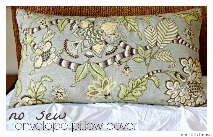 no sew envelope pillow cover tutorial - Our Fifth House