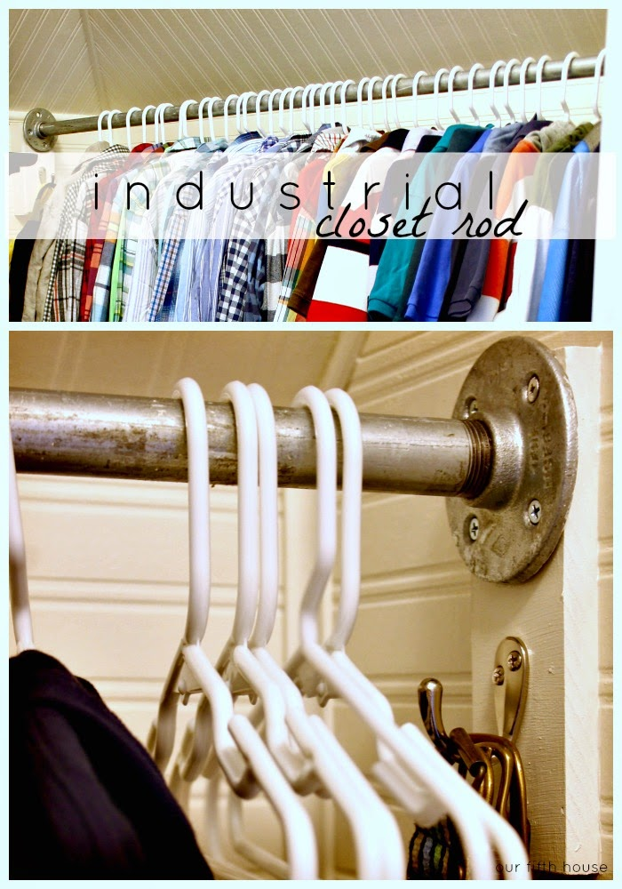 Diy Industrial Galvanized Pipe Closet Rod Our Fifth House