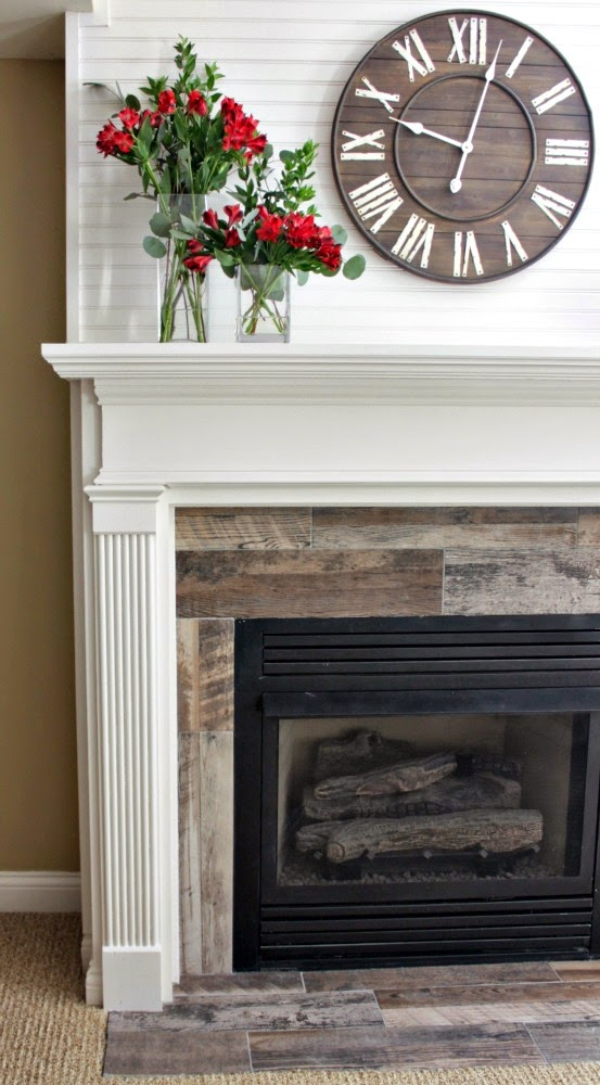 Wood Tile Fireplace WB Designs - Wood Tile Fireplace WB Designs