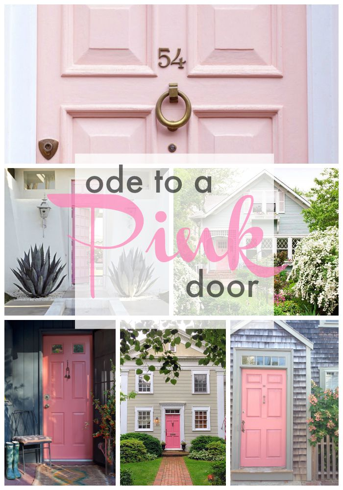 & ode to a pink door - Our Fifth House pezcame.com
