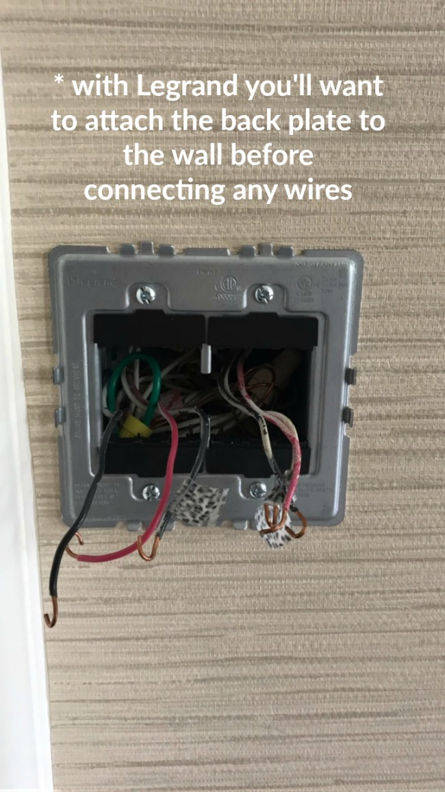 how to replace a light switch and or install a dimmer our fifth house rh ourfifthhouse com install legrand switch wiring a legrand 3 way switch
