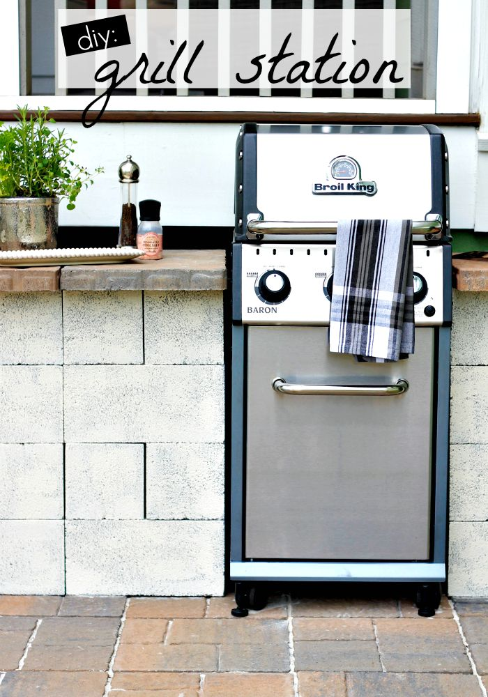 weekend diy - grill station - Our Fifth House on Patio Grill Station id=80239